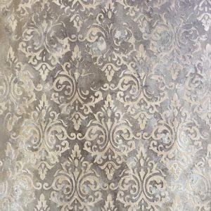 Effet mural Stuc et enduit motif damas